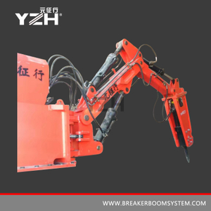 Rock Breaker Boom System para Grizzly